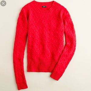 J. Crew Honeycomb Cable Sweater Size Small